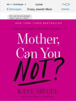 Cover art for Mother Can You Not?