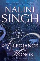 Cover art for Allegiance of Honor