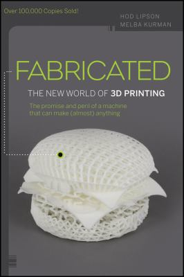 A book cover with a photo of a white, 3D-printed hamburger. The title text is white on a gray background.