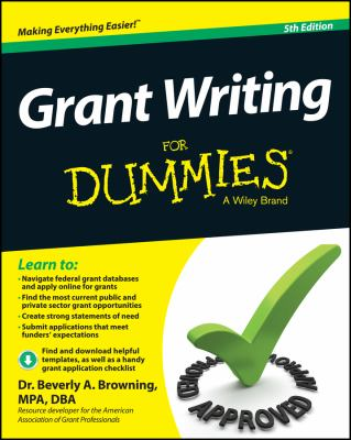 Grant Writing for Dummies cover art
