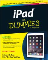 Ipad For Dummies : A Wiley Brand by Baig, Edward C. © 2015 (Added: 3/25/15)