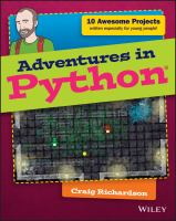 Book cover of Adventures in Python