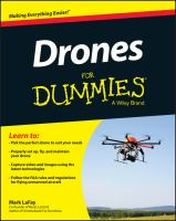 Drones For Dummies by Lafay, Mark © 2015 (Added: 3/9/17)
