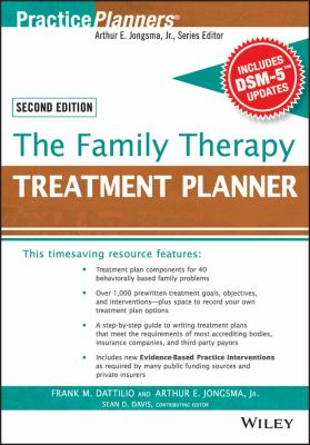 Book jacket for The Family Therapy Treatment Planner, with DSM-5 Updates, 2nd Edition