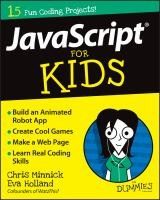 Book cover of JavaScript for Kids for Dummies