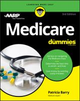 Medicare For Dummies by Barry, Patricia © 2018 (Added: 11/8/17)