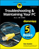 Troubleshooting & Maintaining Your Pc All-in-one by Gookin, Dan © 2017 (Added: 5/14/18)