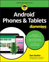 Android Phones & Tablets For Dummies by Gookin, Dan © 2018 (Added: 5/14/18)