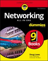 Networking All-in-one For Dummies by Lowe, Doug © 2018 (Added: 5/14/18)