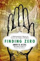 Cover art for Finding Zero