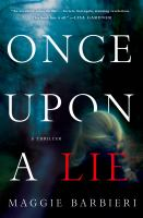 Cover art for Once Upon a Lie
