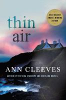 Cover art for Thin Air by Ann Cleeves
