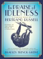 Cover art for In Praise of Idleness