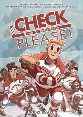 Book cover, hockey players, one holding a pie