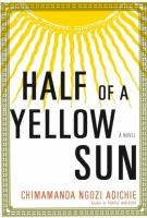 Cover art for Half of a Yellow Sun