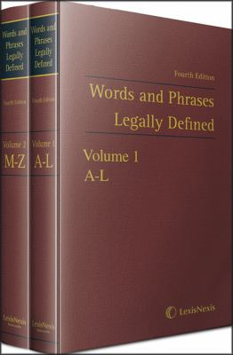 Words and phrases legally defined