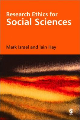 Book jacket for Research Ethics for Social Scientists