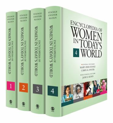 Book jacket for Encyclopedia of Women in Today's World