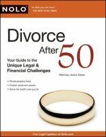 Divorce After 50 : Your Guide To The Unique Legal & Financial Challenges by Green, Janice © 2010 (Added: 4/24/18)