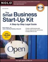 The Small Business Start-up Kit by Pakroo, Peri © 2000 (Added: 5/9/18)