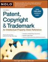 Patent, Copyright & Trademark by Stim, Richard © 1996 (Added: 5/14/18)
