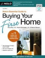 Nolo's Essential Guide To Buying Your First Home by Bray, Ilona M. © 2007 (Added: 5/14/18)