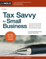 Tax Savvy for Small Business book cover