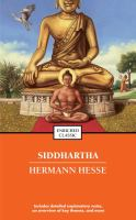 Cover art for Siddhartha