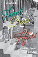 Book cover: Front Stoops in the Fifties: Baltimore Legends Come of Age