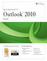 Microsoft Outlook 2010 Basic : Student Manual by  © 2011 (Added: 1/26/16)