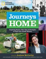 Journeys Home : Inspiring Stories, Plus Tips And Strategies To Find Your Family History by McCarthy, Andrew © 2015 (Added: 3/3/15)