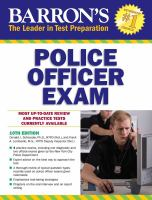 Police Officer Exam by Schroeder, Donald J. © 1982 (Added: 5/9/18)