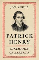 Cover art for Patrick Henry