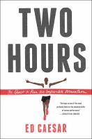 Book cover of Two Hours: The Quest to Run the Impossible Marathon