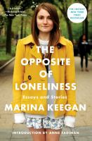 Book cover: The Opposite of Loneliness