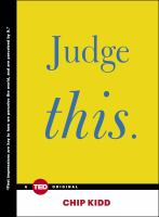 Cover art for Judge This