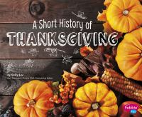 Cover art for A Short History of Thanksgiving