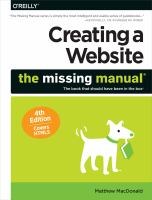 Creating A Website : The Missing Manual by MacDonald, Matthew © 2015 (Added: 5/14/18)