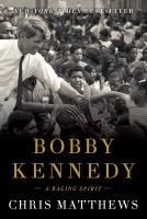 Cover art for Bobby Kennedy A Raging Spirit