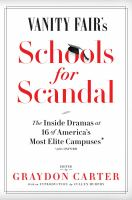 Cover art for Vanity Fair's Schools for Scandal