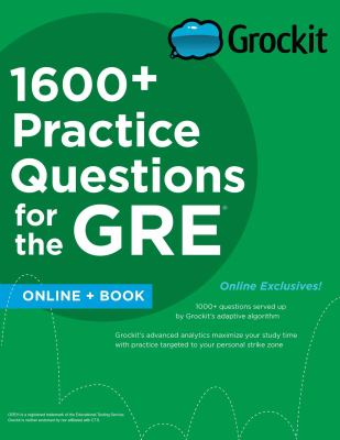 1600+ Practice Questions for the GRE book cover
