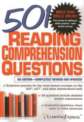 Cover image for 501 reading comprehension questions.