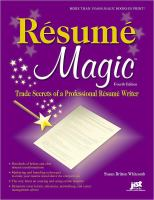 Book Cover: Resume Magic