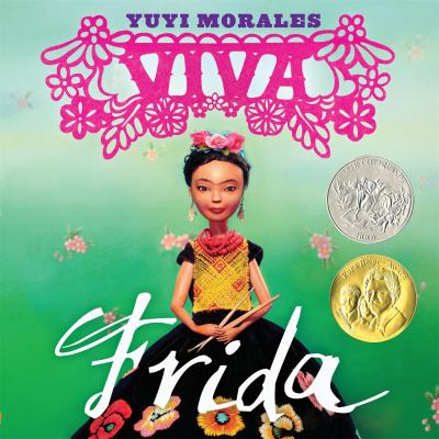 Book Cover - Title in elaborate pink and white lettering over illustration of young Mexican girl.