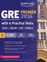 Gre Premier 2016 by Kaplan Publishing © 2015 (Added: 7/13/16)