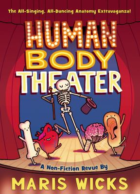 book cover for children's book called human body theater