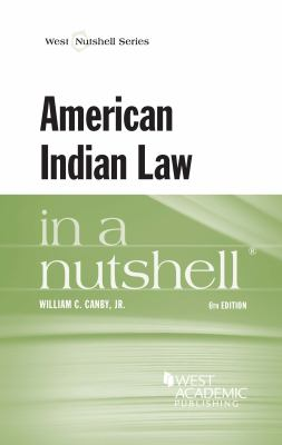 Book cover for American Indian law in a nutshell