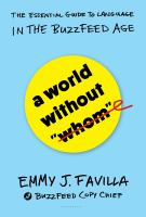Cover art for A World Without Whom