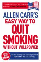 Stop Smoking Now by Carr, Allen © 2015 (Added: 5/12/15)