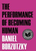 Cover art for The Performance of Becoming Human